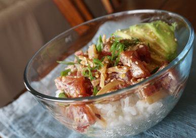 poke, poke bowl, spicy tuna, spicy ahi tuna poke, spicy ahi tuna poke bowl, how to make a poke bowl