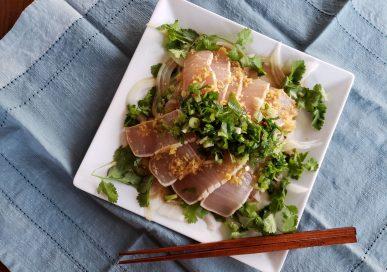 seared marlin, seared tuna, tataki, katsuo no tataki, marlin tataki